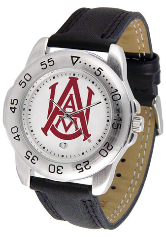 Alabama A&M Bulldogs Men Sport Watch With Leather Band