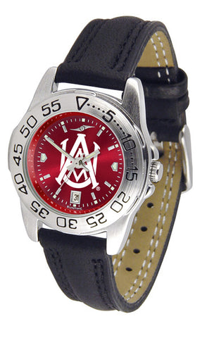 Alabama A&M Bulldogs Ladies Sport Watch With Leather Band & AnoChrome Dial