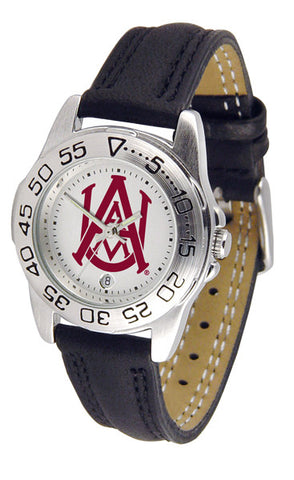 Alabama A&M Bulldogs Ladies Sport Watch With Leather Band