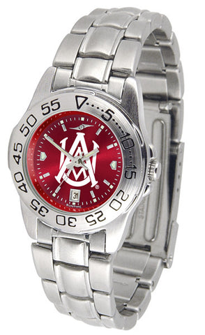 Alabama A&M Bulldogs Ladies Sport Steel Watch With AnoChrome Dial