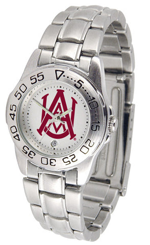 Alabama A&M Bulldogs Ladies Sport Steel Watch