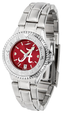 Alabama Crimson Tide Ladies Competitor Steel Watch With AnoChome Dial