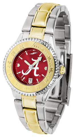 Alabama Crimson Tide Ladies Competitor Two-Tone Watch With AnoChrome Dial