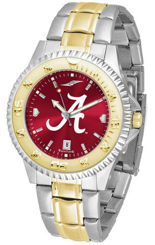 Alabama Crimson Tide Mens Competitor Two-Tone Watch With AnoChrome Dial