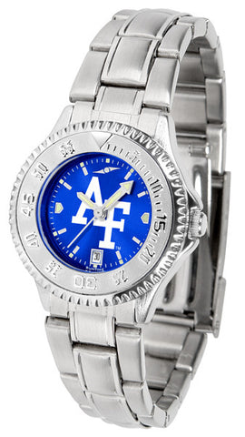 Air Force Falcons Ladies Competitor Steel Watch With AnoChome Dial
