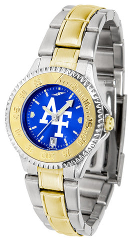 Air Force Falcons Ladies Competitor Two-Tone Watch With Anochrome Dial