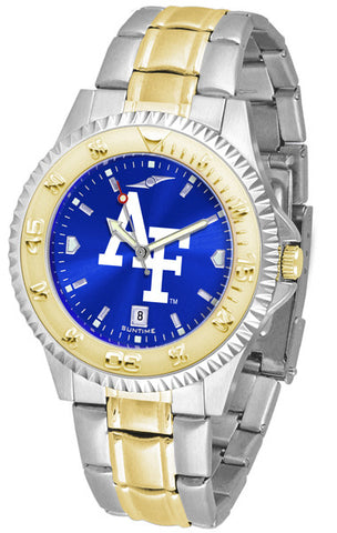 Air Force Falcons Mens Competitor Two-Tone Watch With Anochrome Dial