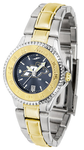 Akron Zips Ladies Competitor Two-Tone Watch With Anochrome Dial