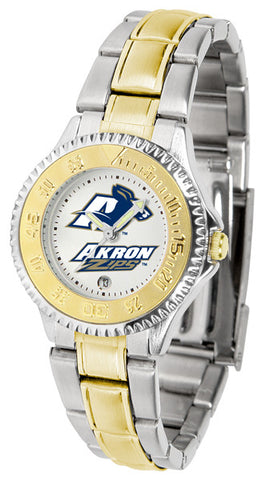 Akron Zips Ladies Competitor Two-Tone Watch
