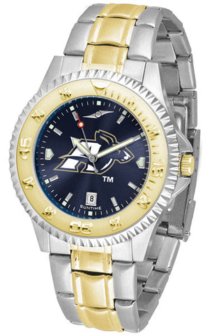 Akron Zips Men's Competitor Two-Tone Watch With Anochrome Dial
