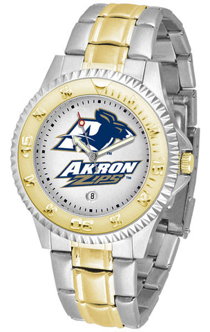 Akron Zips Men's Competitor Two-Tone Watch