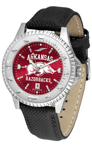 Arkansas Razorbacks Men  Competitor Watch With AnoChome Dial