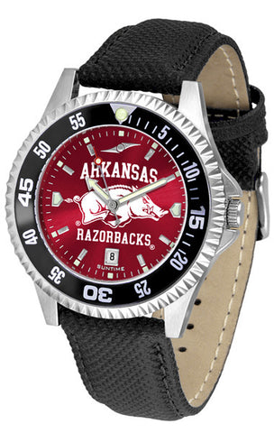 Arkansas Razorbacks Men Competitor Watch With AnoChome Dial, Color Bezel