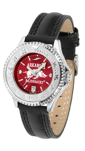 Arkansas Razorbacks Ladies Competitor Watch With AnoChome Dial