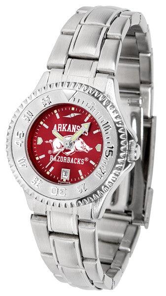 Arkansas Razorbacks Ladies Competitor Steel Watch With AnoChome Dial