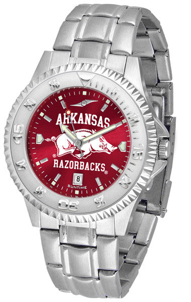 Arkansas Razorbacks Men's Competitor Steel Watch With AnoChome Dial