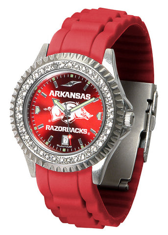 Arkansas Razorbacks Sparkle Watch With Color Band