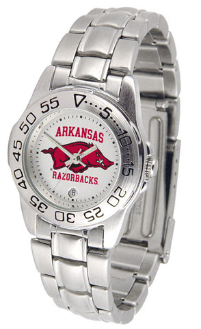 Arkansas Razorbacks Ladies Sport Steel Watch