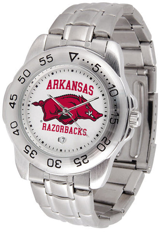Arkansas Razorbacks Men Sport Steel Watch
