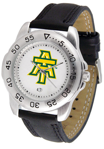 Arkansas Tech Men Sport Watch With Leather Band