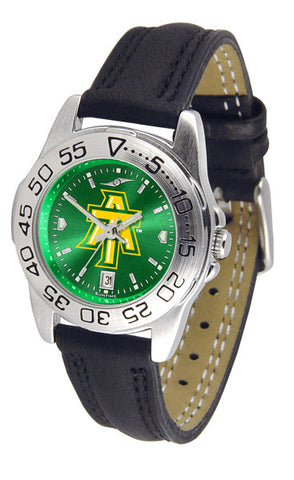 Arkansas Tech Ladies Sport Watch With Leather Band & AnoChrome Dial