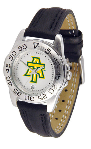 Arkansas Tech Ladies Sport Watch With Leather Band