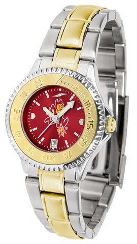 Arizona State Ladies Competitor Two-Tone Watch With Anochrome Dial