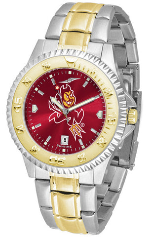 Arizona State Mens Competitor Two-Tone Watch With Anochrome Dial