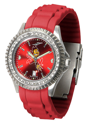 Arizona State Sparkle Watch With Color Band
