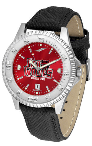 Arkansas State Red Wolves Men  Competitor Watch With AnoChome Dial