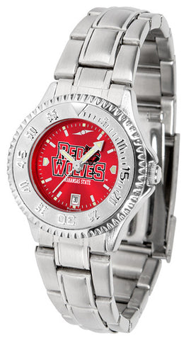 Arkansas State Red Wolves Ladies Competitor Steel Watch With AnoChome Dial