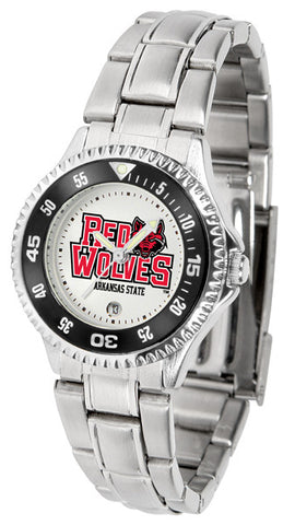 Arkansas State Red Wolves Competitor Steel Ladies Watch