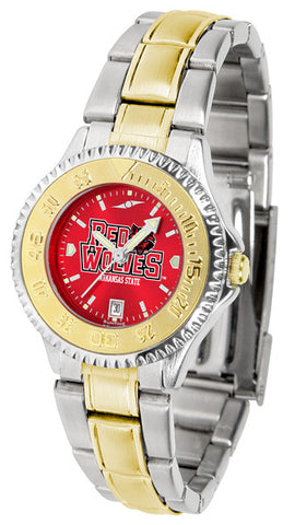 Arkansas State Red Wolves Ladies Competitor Two-Tone Watch With Anochrome Dial