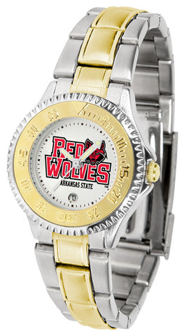 Arkansas State Red Wolves Ladies Competitor Two-Tone Watch