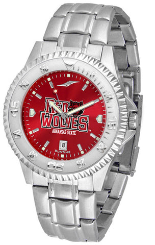 Arkansas State Red Wolves Men's Competitor Steel Watch With AnoChome Dial