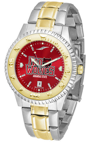Arkansas State Red Wolves Mens Competitor Two-Tone Watch With Anochrome Dial