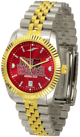 Arkansas State Red Wolves Men's Executive Watch With AnoChrome Dial