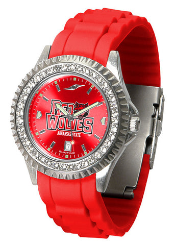 Arkansas State Red Wolves Sparkle Watch With Color Band