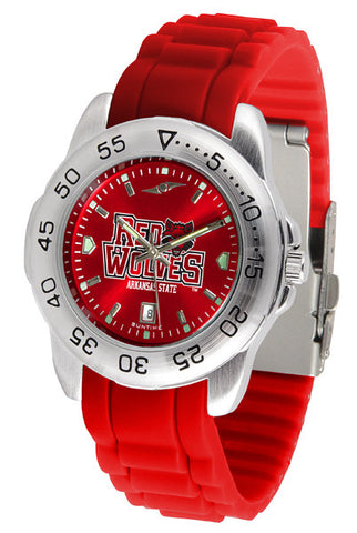 Arkansas State Red Wolves Sport AnoChrome Watch With Color Band