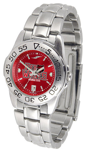 Arkansas State Red Wolves Ladies Sport Steel Watch With AnoChrome Dial