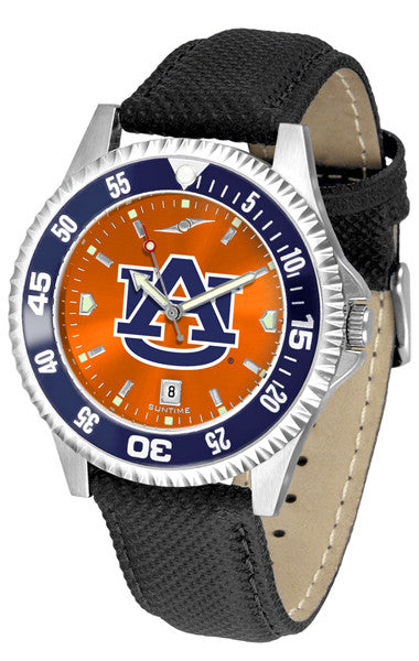 Auburn Tigers Men Competitor Watch With AnoChome Dial, Color Bezel