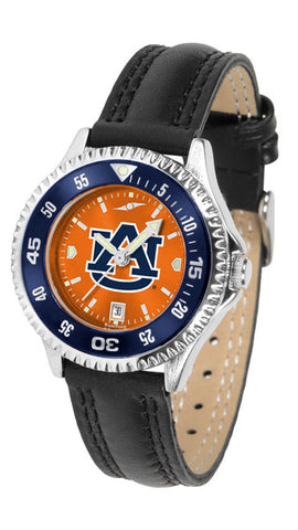 Auburn Tigers Ladies Competitor Watch With AnoChome Dial, Color Bezel