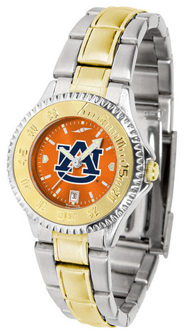 Auburn Tigers Ladies Competitor Two-Tone Watch With AnoChrome Orange Dial