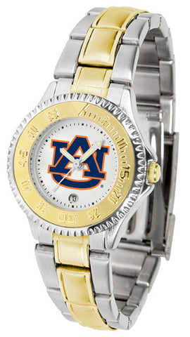 Auburn Tigers Ladies Competitor Two-Tone Watch With White Dial