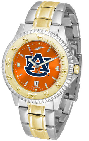 Auburn Tigers Men Competitor Two-Tone Watch With AnoChrome Orange Dial