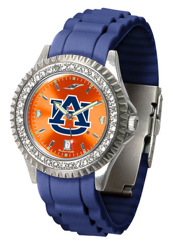 Auburn Tigers Sparkle Watch With Color Band