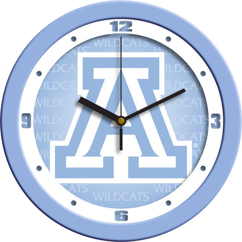 Mens Arizona Wildcats - Baby Blue Wall Clock
