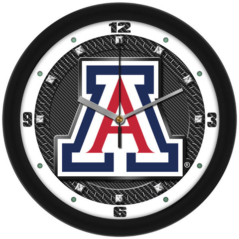 Mens Arizona Wildcats - Carbon Fiber Textured Wall Clock