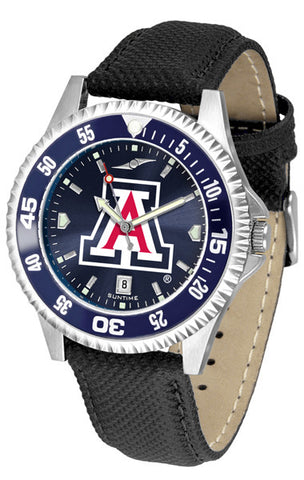Arizona Wildcats Men Competitor Watch With AnoChome Dial, Color Bezel