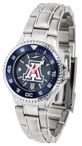 Arizona Wildcats Ladies Competitor Steel Watch With AnoChome Dial, Color Bezel